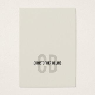 Minimal Elegant Old White Monogram Consultant Business Card