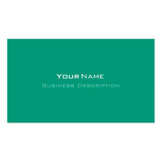 Minimal Emerald Green Business Card