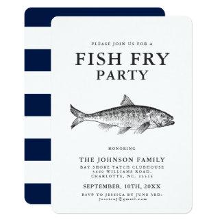 Minimal Fish Fry BBQ Party Customized Invitation