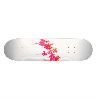 Minimal Floral Print Skateboard Deck
