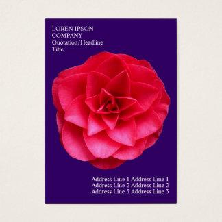 Minimal Flowers - Red Camelia - Deep Violet Business Card