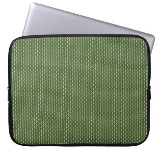 "Minimal Geometric Pattern - Japan ""Bamboo Forest"" Laptop Computer Sleeve"
