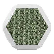 "Minimal Geometric Pattern - Japan ""Bamboo Forest"" White Bluetooth Speaker"