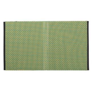 "Minimal Geometric Pattern - Japan ""Green Pastures"" iPad Folio Cover"