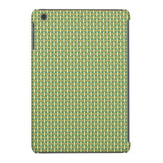 "Minimal Geometric Pattern - Japan ""Green Pastures"" iPad Mini Case"