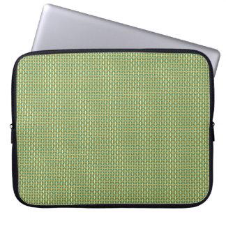 """Minimal Geometric Pattern - Japan """"Green Pastures"""" Laptop Computer Sleeves"""
