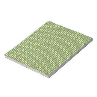 """Minimal Geometric Pattern - Japan """"Green Pastures"""" Notepad"""