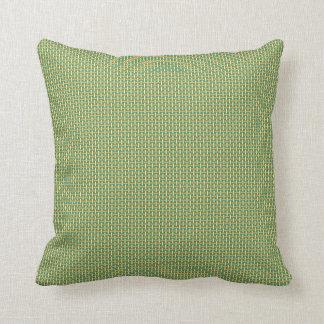 """Minimal Geometric Pattern - Japan """"Green Pastures"""" Throw Pillow"""