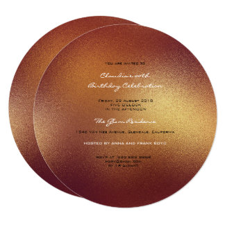 Minimal Glass Ombre Gold Mercury Planet Frosted Card