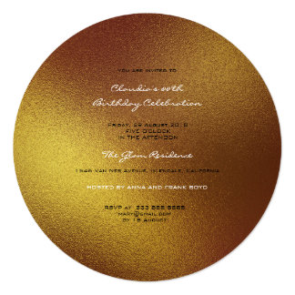 Minimal Glass Ombre Gold Sepia Planet Frosted Card