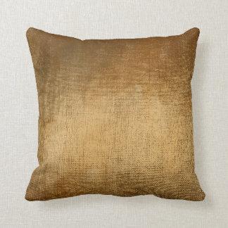Minimal Gold Glam Brush Metallic Pillow