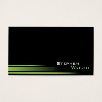 Minimal Gradient Lines Professional Custom Color Business Card
