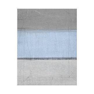 'Minimal' Grey and Brown Abstract Art Canvas Print