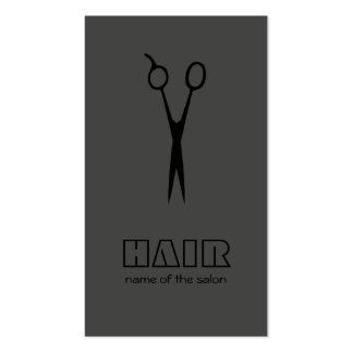 Minimal Grey Black Hairstylist/Salon Business Card