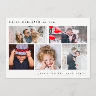 Minimal Holiday Photo Collage | Black Gingham