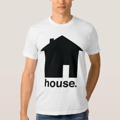 minimal house t shirt
