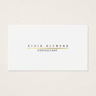 minimal information on elegant white professional business card