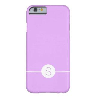Minimal iOS 8 Style - Plain Purple White Monogram Barely There iPhone 6 Case