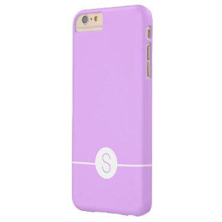 Minimal iOS 8 Style - Plain Purple White Monogram Barely There iPhone 6 Plus Case