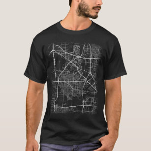 Minimal Irving city map (LARGE PRINT) T-Shirt