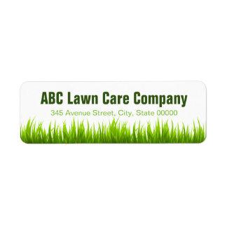 Minimal Lawn Care Landscaping Services Company Etiquetas De Remite