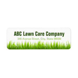 Minimal Lawn Care Landscaping Services Company Label