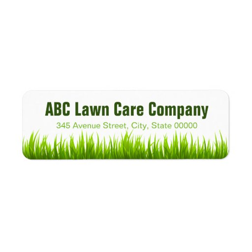 Minimal lawn care landscaping services company label zazzle for Lawn treatment companies