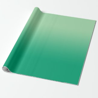 Minimal Light Green to Dark Green Gradient Wrapping Paper