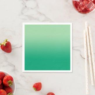 Minimal Light to Dark Green Gradient Napkins
