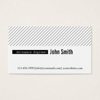 Minimal Lines Aerospace Engineer Business Card