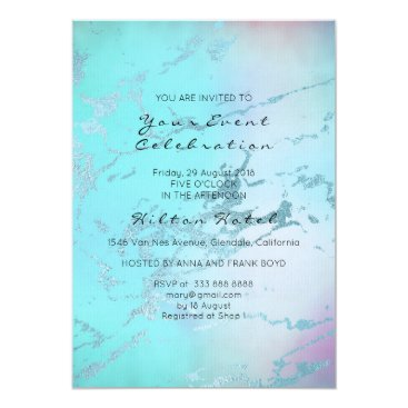 Beach Themed Minimal Marble Pastel Ombre Rose Tiffany Blue Card