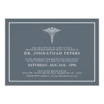 Minimal Medical Graduation|Retirement Invitation