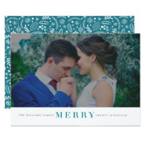 Minimal Merry Christmas Photo Cards