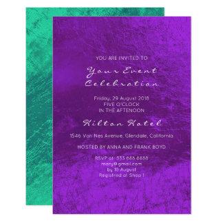 Minimal Metallic Emerald Green Purple Glass Card