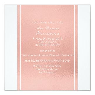 Minimal Metallic Pink Rose Gold Powder Brush Vip Card