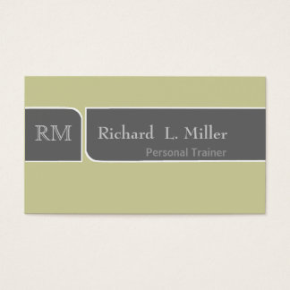 Minimal Middle Encounter Simple DIY Customization Business Card