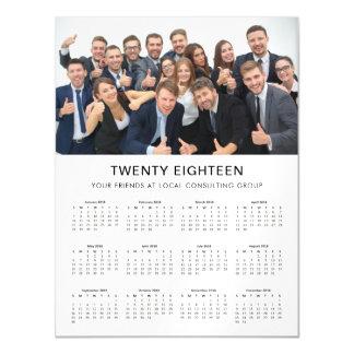 Minimal Modern | 2018 Company Photo Calendar Magnetic Card