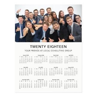 Minimal Modern | 2018 Company Photo Calendar Postcard