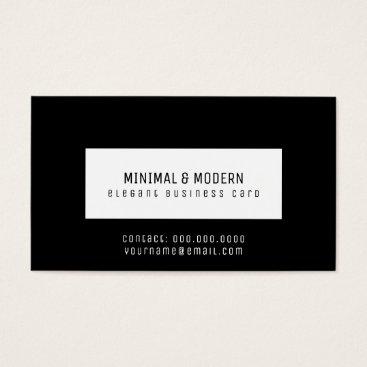 Professional Business minimal & modern elegant black business card