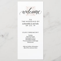 Minimal Modern Geometric Diamond Wedding Program
