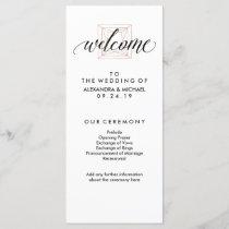 Minimal Modern Geometric Diamond Wedding Program