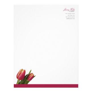 Minimal Modern Tulip Foral (Florist) Letterhead