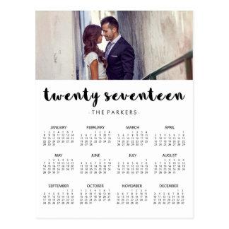 Minimal Modern Typography 2017 Photo Calendar Postcard