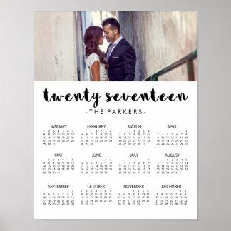 Minimal Modern Typography 2017 Photo Calendar Poster