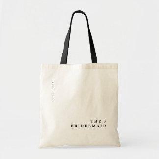 Minimal Modern Typography Wedding Bridesmaid Gift Tote Bag