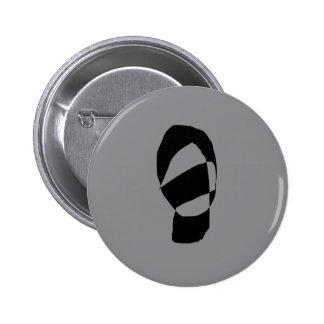 Minimal Monochrome 2 Inch Round Button