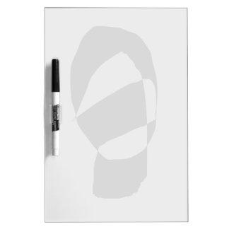 Minimal Monochrome Dry-Erase Whiteboard