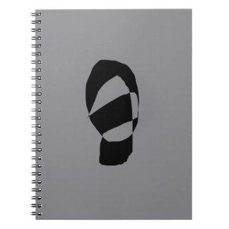 Minimal Monochrome Spiral Notebook