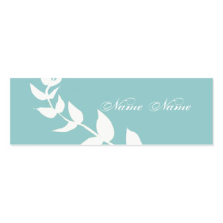 Minimal Nature Tree Forest White Branches Mini Business Card