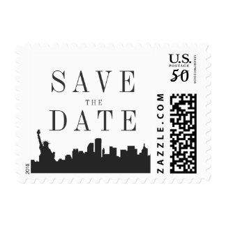 minimal New York Wedding Save the Date Postage